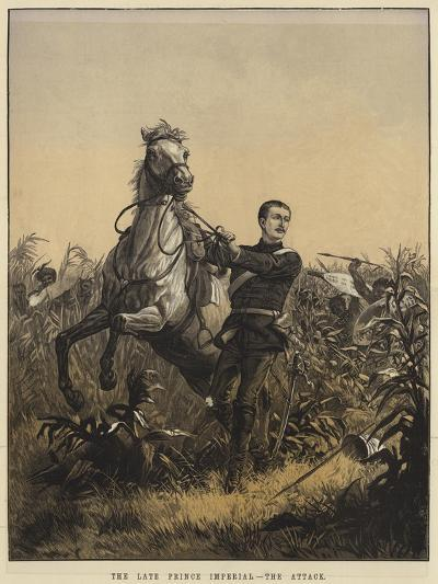 The Late Prince Imperial, the Attack--Giclee Print