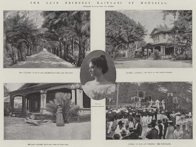 The Late Princess Kaiulani of Honolulu--Giclee Print