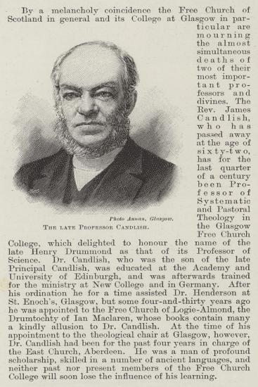 The Late Professor Candlish--Giclee Print
