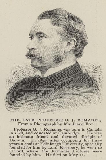 The Late Professor G J Romanes--Giclee Print