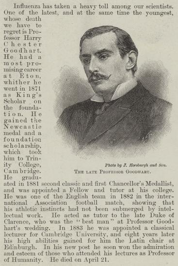 The Late Professor Goodhart--Giclee Print