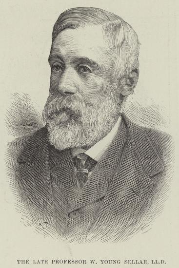 The Late Professor W Young Sellar--Giclee Print