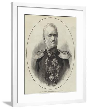 The Late Prussian Field Marshal Count Von Wrangel--Framed Giclee Print