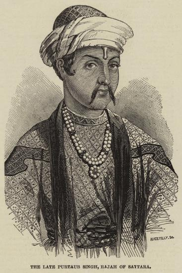 The Late Purtaub Singh, Rajah of Sattara--Giclee Print