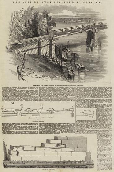 The Late Railway Accident, at Chester--Giclee Print
