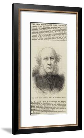 The Late Rear-Admiral Sir J W Tarleton--Framed Giclee Print