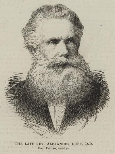 The Late Reverend Alexander Duff--Giclee Print