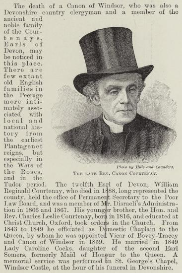 The Late Reverend Canon Courtenay--Giclee Print