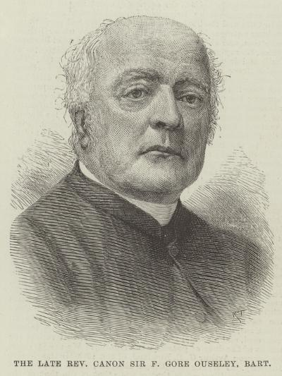 The Late Reverend Canon Sir F Gore Ouseley, Baronet--Giclee Print