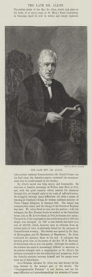 The Late Reverend Dr Allon--Giclee Print