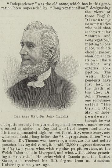 The Late Reverend Dr John Thomas--Giclee Print