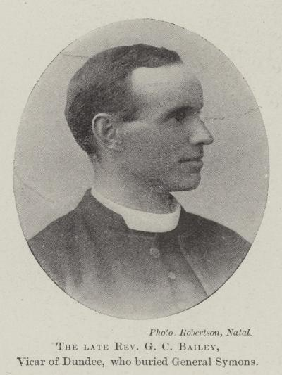 The Late Reverend G C Bailey, Vicar of Dundee, Who Buried General Symons--Giclee Print