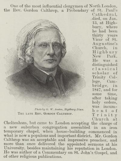 The Late Reverend Gordon Calthrop--Giclee Print