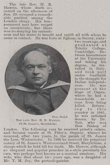 The Late Reverend H R Haweis, of St James'S, Marylebone--Giclee Print