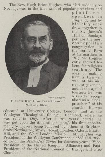 The Late Reverend Hugh Price Hughes, Methodist Divine--Giclee Print