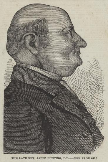 The Late Reverend Jabez Bunting--Giclee Print