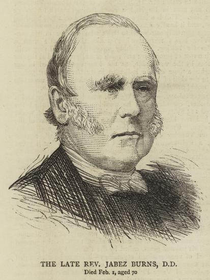 The Late Reverend Jabez Burns--Giclee Print