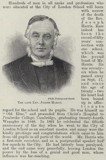 The Late Reverend Joseph Harris--Giclee Print