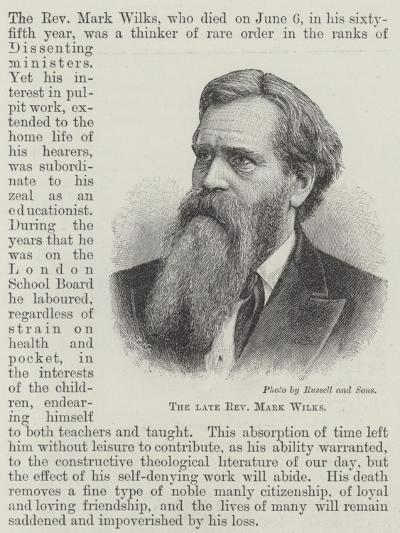 The Late Reverend Mark Wilks--Giclee Print