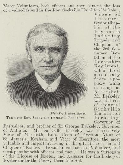 The Late Reverend Sackville Hamilton Berkeley--Giclee Print