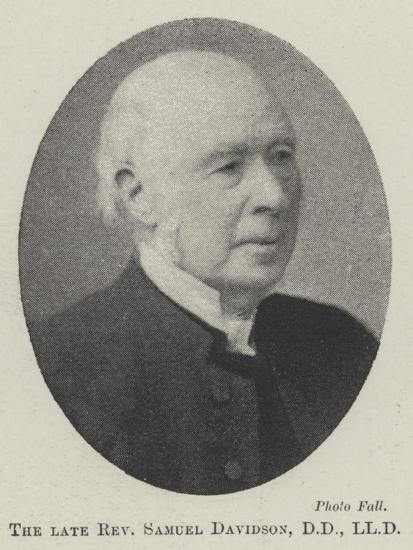 The Late Reverend Samuel Davidson--Giclee Print