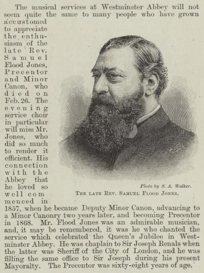 The Late Reverend Samuel Flood Jones--Giclee Print