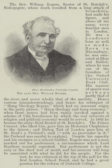 The Late Reverend William Rogers--Giclee Print