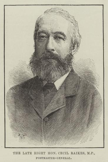 The Late Right Honourable Cecil Raikes, Mp, Postmaster-General--Giclee Print