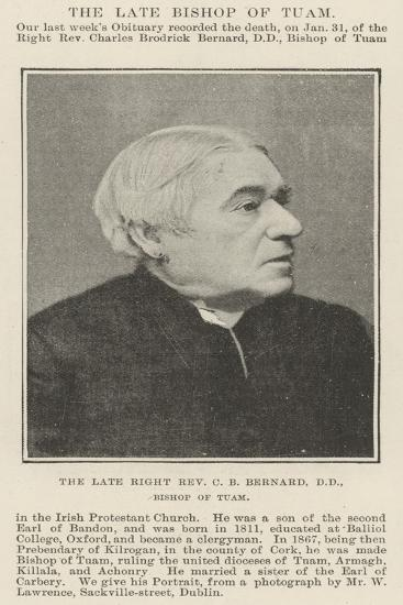 The Late Right Reverend C B Bernard, Dd, Bishop of Tuam--Giclee Print