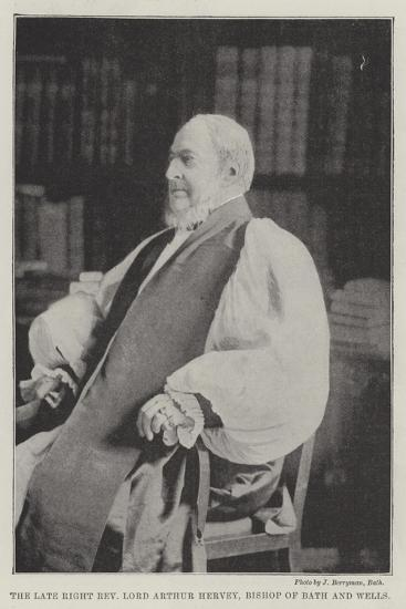 The Late Right Reverend Lord Arthur Hervey, Bishop of Bath and Wells--Giclee Print