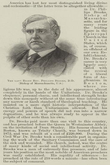 The Late Right Reverend Phillips Brooks, Dd, Bishop of Massachusetts, Us--Giclee Print