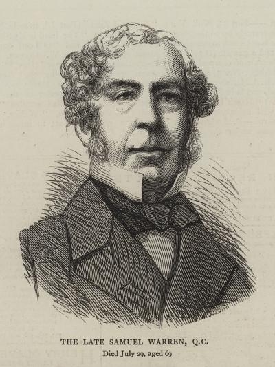 The Late Samuel Warren--Giclee Print
