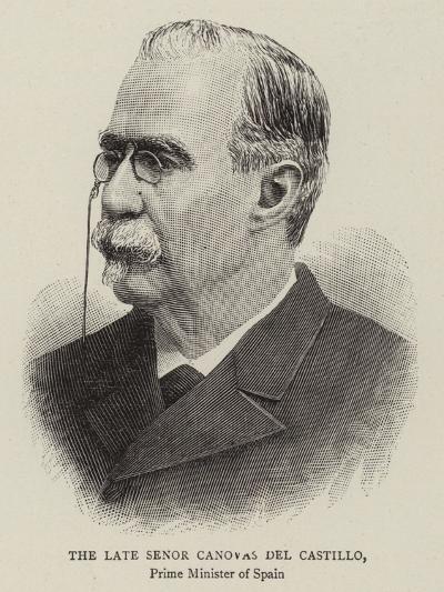 The Late Senor Canovas Del Castillo--Giclee Print
