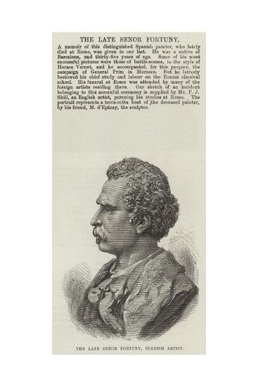The Late Senor Fortuny, Spanish Artist--Giclee Print