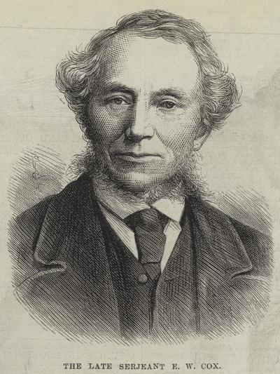 The Late Serjeant E W Cox--Giclee Print