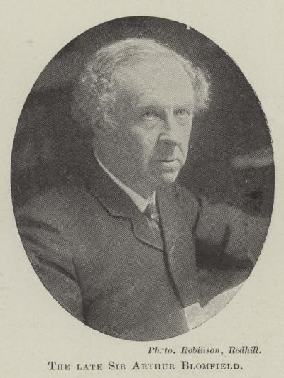 The Late Sir Arthur Blomfield--Giclee Print