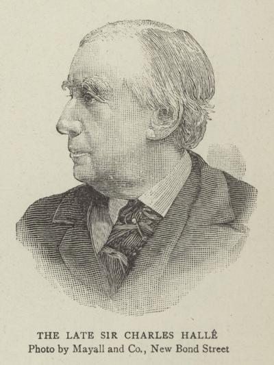 The Late Sir Charles Halle--Giclee Print