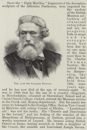 The Late Sir Charles Newton--Giclee Print