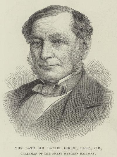 The Late Sir Daniel Googh, Baronet, Ce, Chairman of the Great Western Railway--Giclee Print