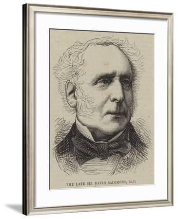 The Late Sir David Salomons--Framed Giclee Print