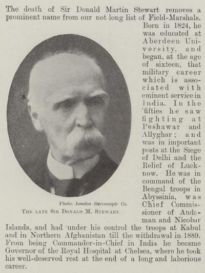 The Late Sir Donald M Stewart--Giclee Print