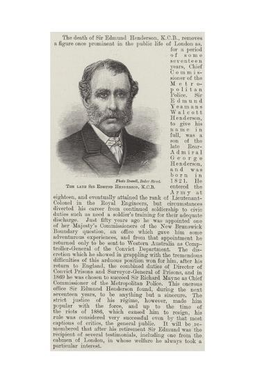 The Late Sir Edmund Henderson--Giclee Print