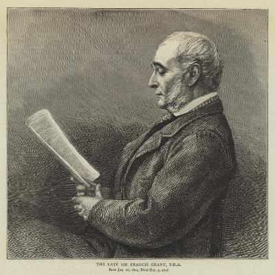 The Late Sir Francis Grant--Giclee Print