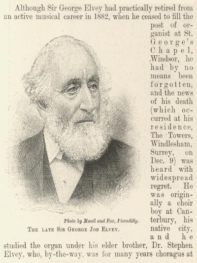 The Late Sir George Job Elvey--Giclee Print