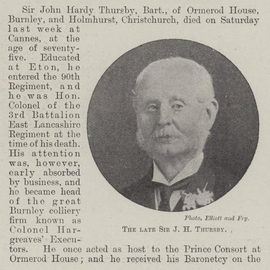 The Late Sir J H Thursby--Giclee Print