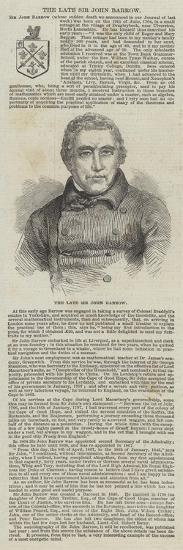 The Late Sir John Barrow--Giclee Print
