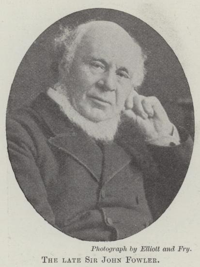 The Late Sir John Fowler--Giclee Print