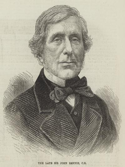 The Late Sir John Rennie--Giclee Print