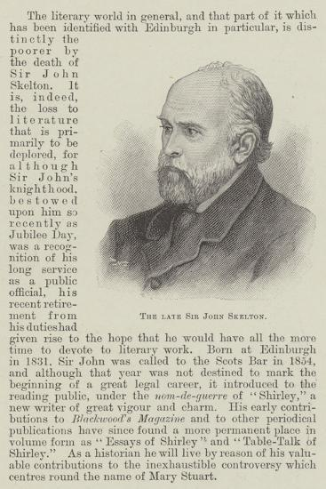 The Late Sir John Skelton--Giclee Print
