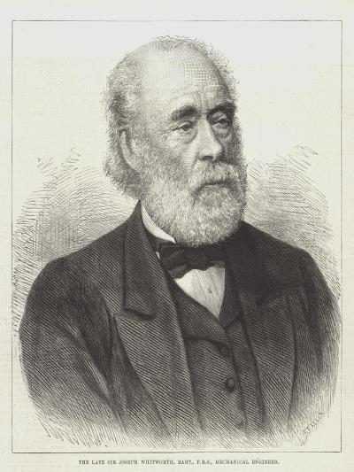 The Late Sir Joseph Whitworth, Baronet, Frs, Mechanical Engineer--Giclee Print